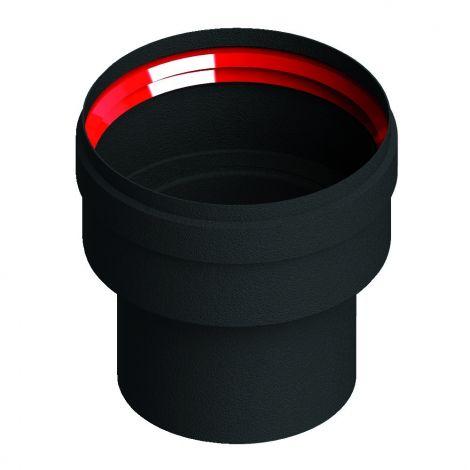 Zwart Living Pellet vergrotend verloop Ø 80-100 mm