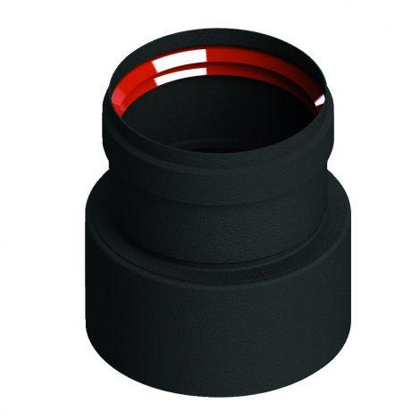 Zwart Living Pellet verkleinend verloop Ø 100-80 mm