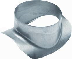 Spiralo zadelstuk 90°  Ø 80 mm op buis Ø 100 mm