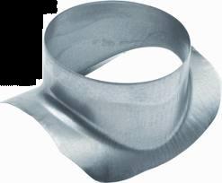 Spiralo zadelstuk 90°  Ø 125 mm op buis Ø 150 - 160 mm