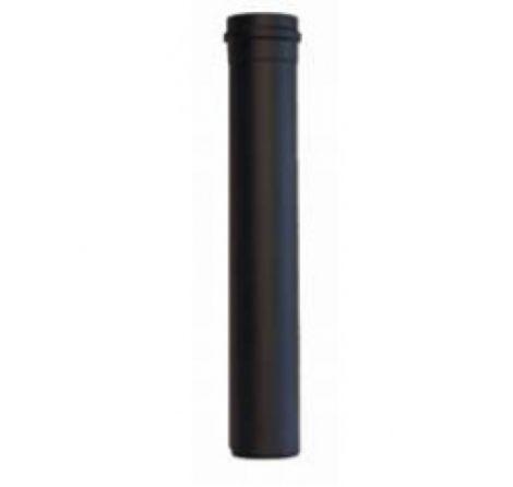 Zwart RVS Ø 80 mm pijp  L = 1000 mm met lipring